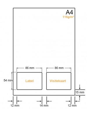 A4 Papier met 1 sticker en kaart - LW41151LVA
