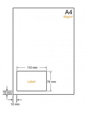 A4 Papier met 1 sticker - LW4901A