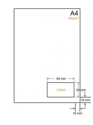 A4 Papier met 1 sticker - LW4901E