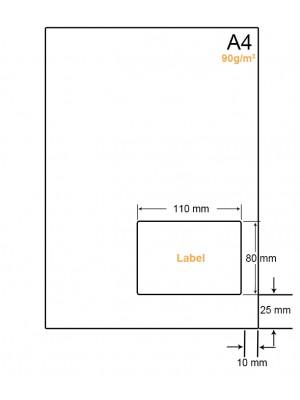 A4 Papier met 1 sticker - LW4901G