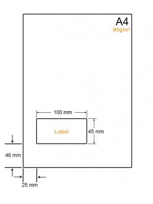 A4 Papier met 1 sticker - LW4901H