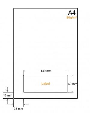 A4 Papier met 1 sticker - LW4901M