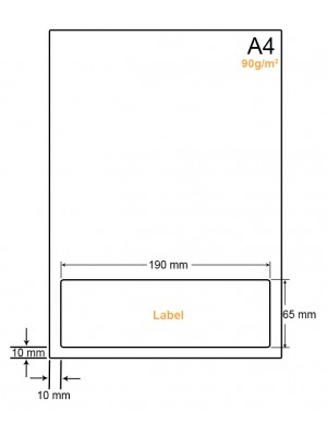 A4 Papier met 1 sticker - LW4901N
