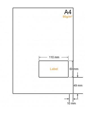 A4 Papier met 1 sticker - LW4901R