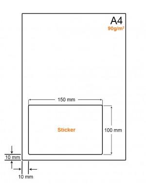 A4 Papier met 1 sticker - LW4901T