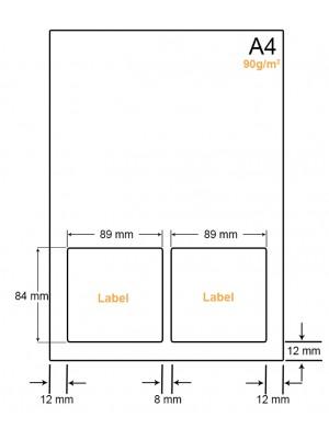 A4 Papier met 2 stickers - LW4902A