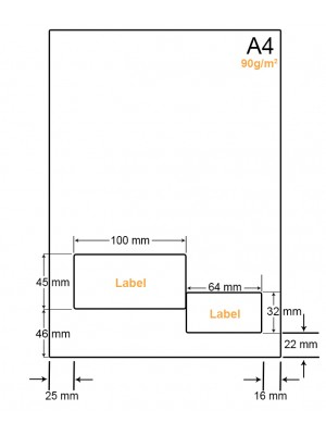 A4 Papier met 2 stickers - LW4902B