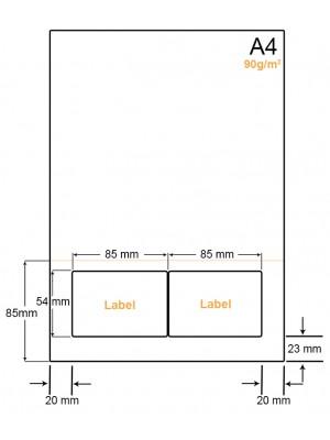 A4 Papier met 2 stickers - LW4902CP