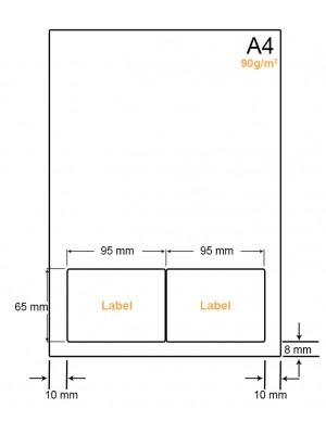 A4 Papier met 2 stickers - LW4902E