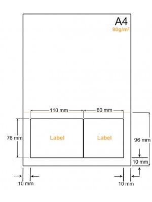A4 Papier met 2 stickers - LW4902FP