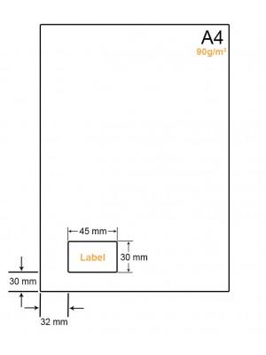 A4 papier met sticker - LW4901F