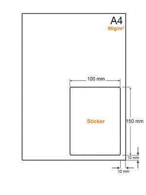 A4 Papier met PostNL pakket label (A6 formaat sticker) - LW4901LP