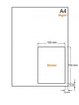 A4 Papier met PostNL pakket label (A6 formaat sticker) - LW4901LP