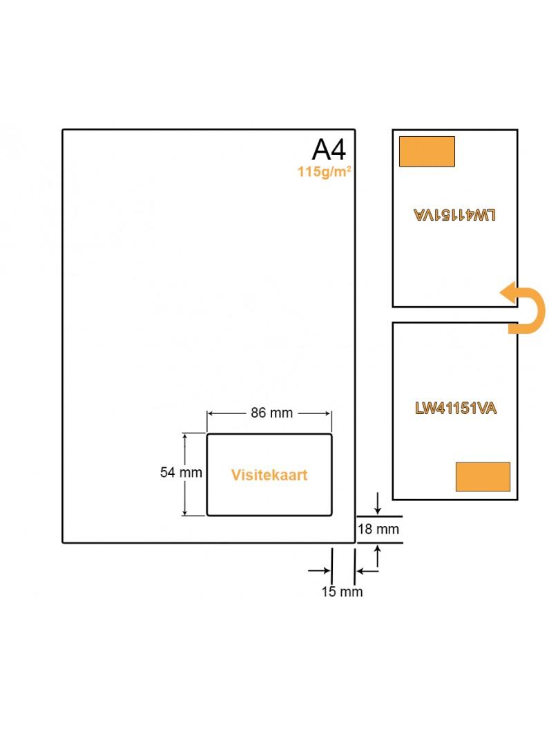A4 Papier met 1 kaart - LW41151VA
