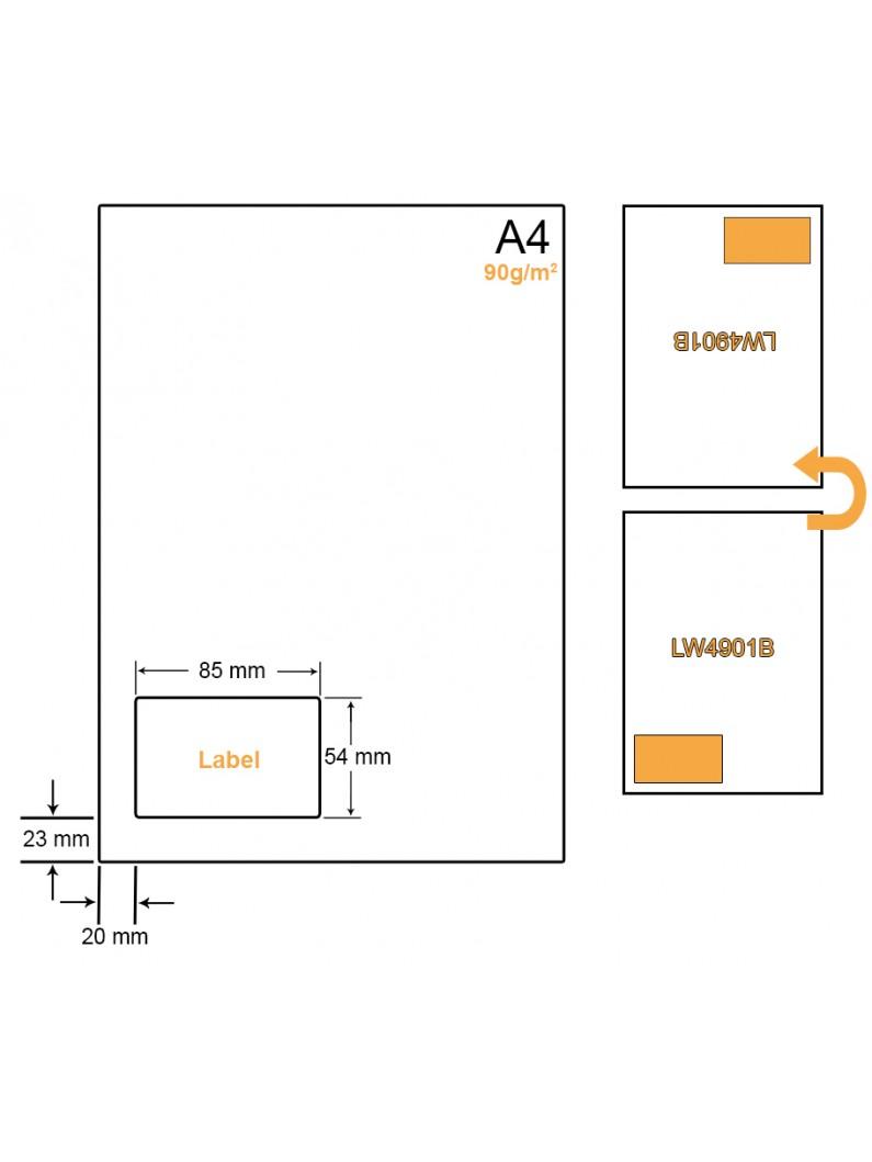 A4 Papier met 1 sticker - LW4901B