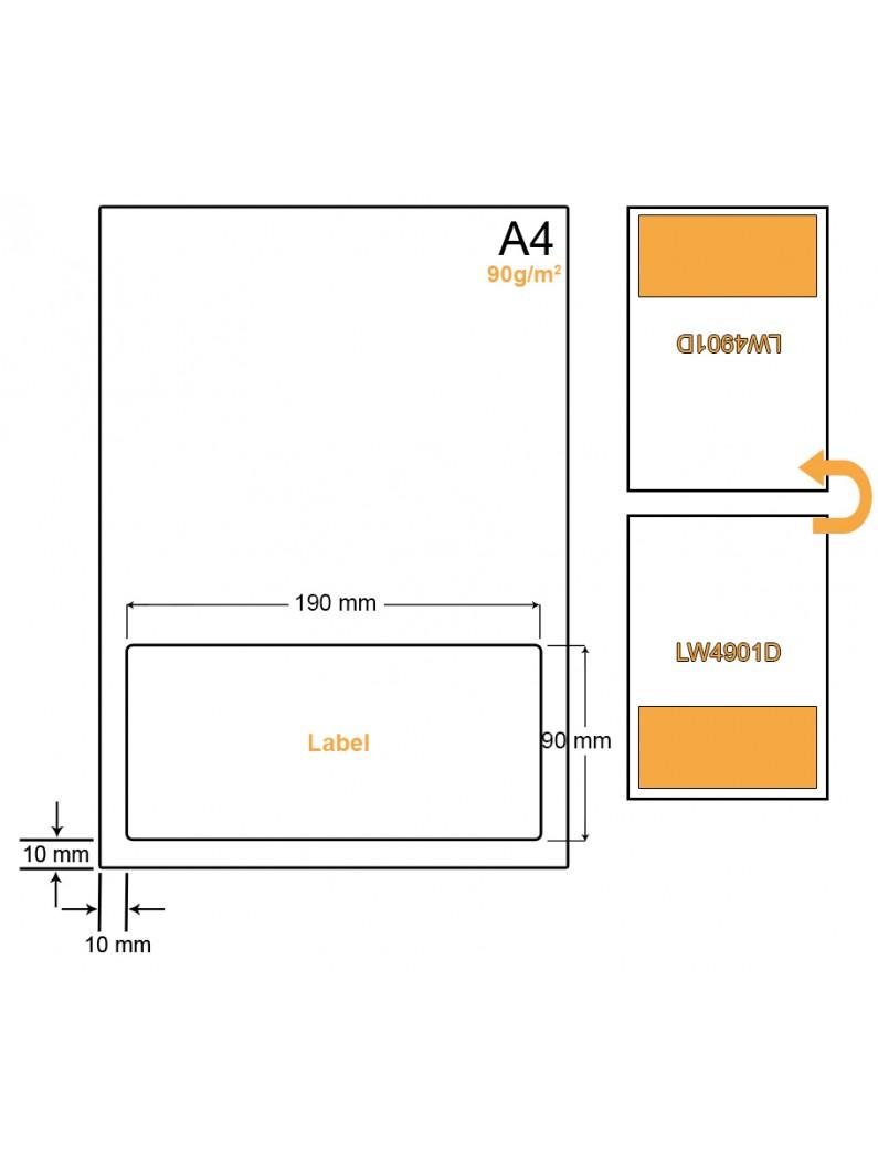 A4 Papier met 1 sticker - LW4901D