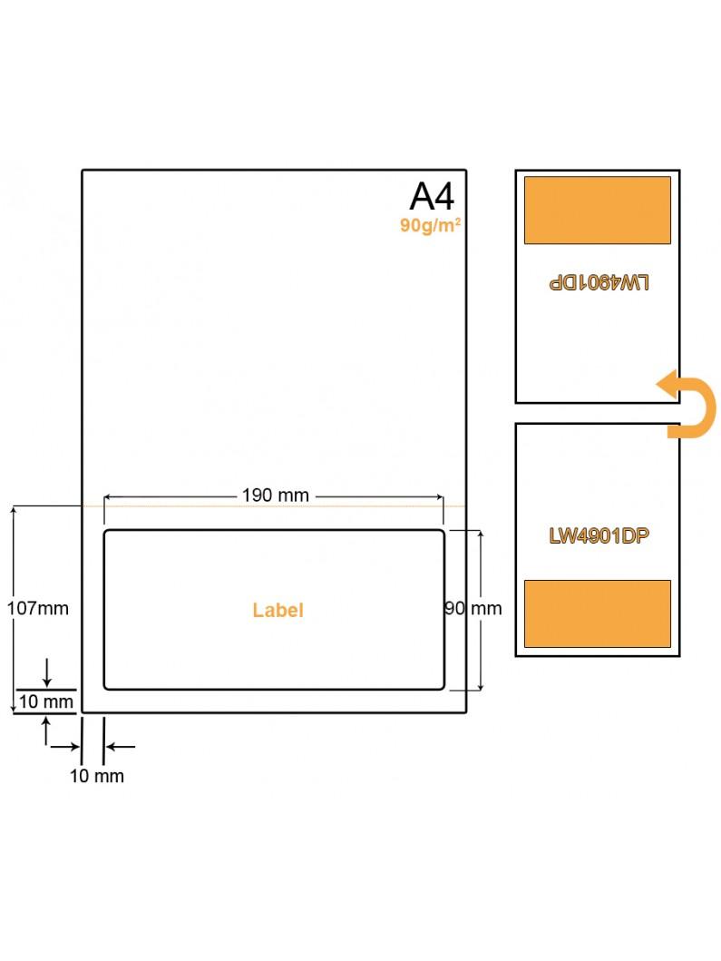 A4 Papier met 1 sticker - LW4901DP