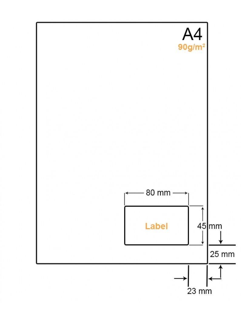 A4 Papier met 1 sticker - LW4901K