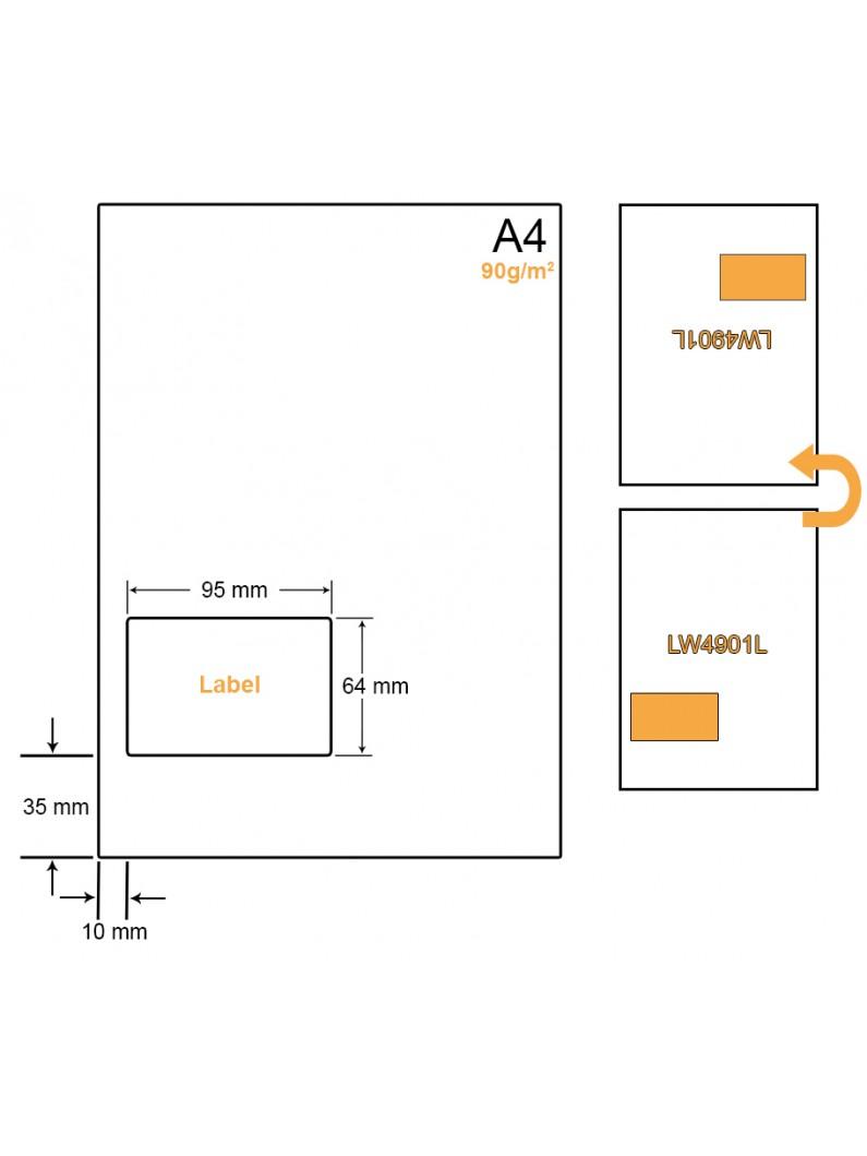 A4 Papier met 1 sticker - LW4901L