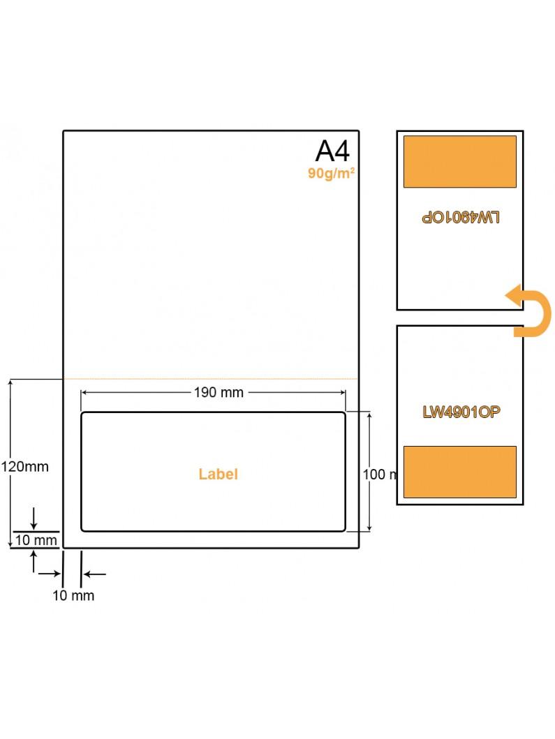 A4 Papier met 1 sticker - LW490C83