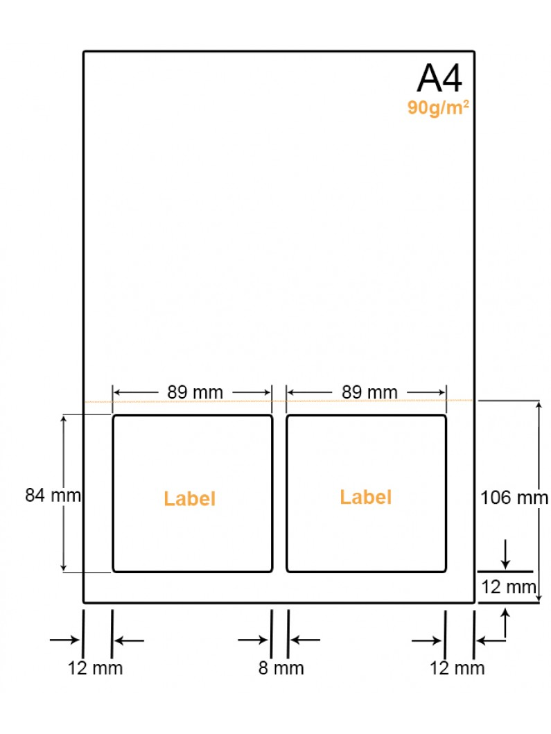 A4 Papier met 2 stickers - LW4902AP