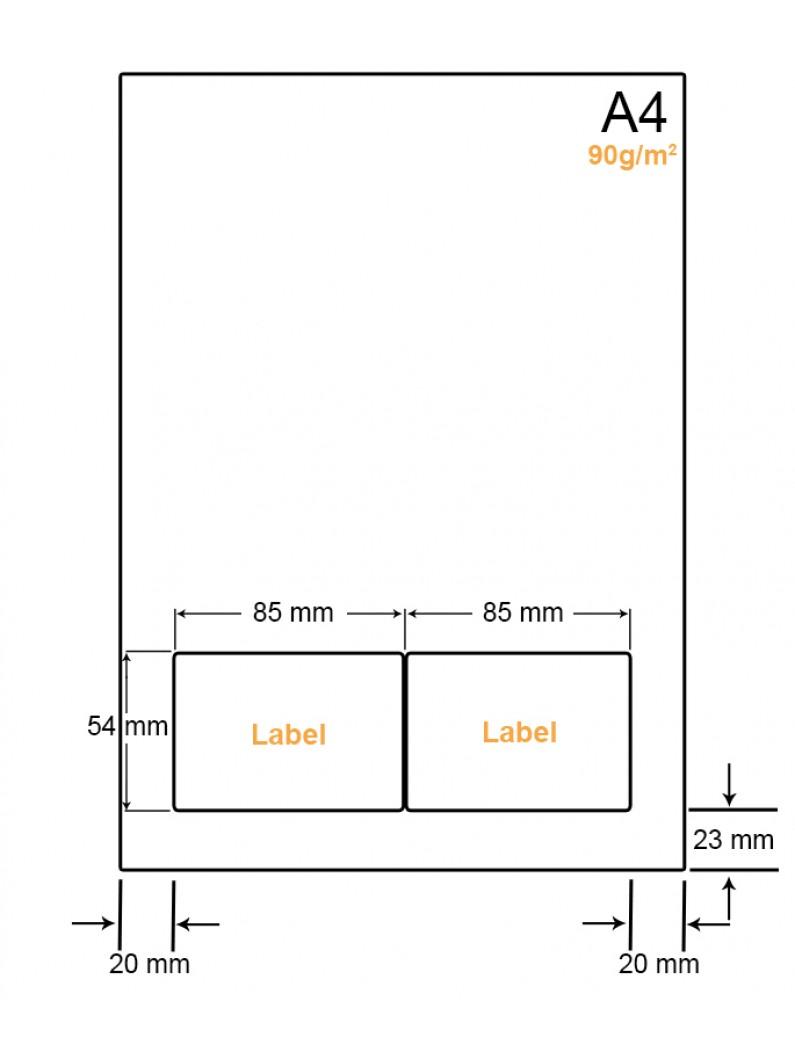 A4 Papier met 2 stickers - LW4902C