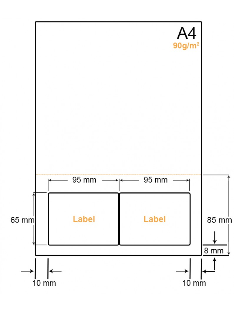 A4 Papier met 2 stickers - LW4902EP