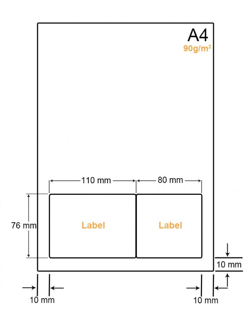 A4 Papier met 2 stickers - LW4902F
